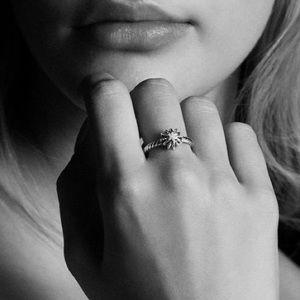 David Yurman Diamond Starburst Ring 6